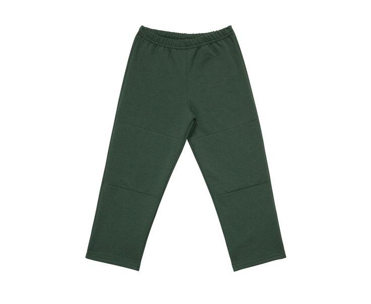 Felpa Pesante, Pantalone lungo dritto con toppe a rinforzo per bambini e ragazzi