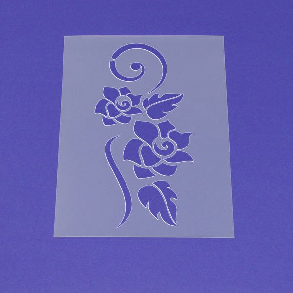 Schablone Blume Rose Ornament Tribal Art - MF65 von Lunatik-Style via dawanda.com