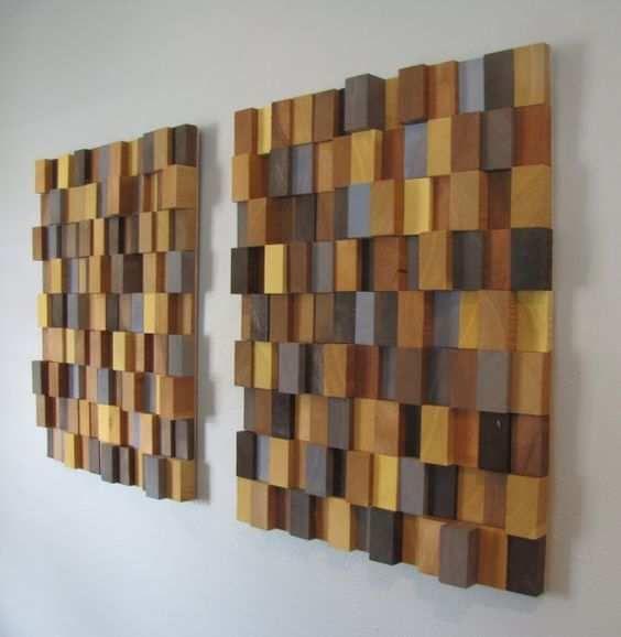Composição de blocos na parede