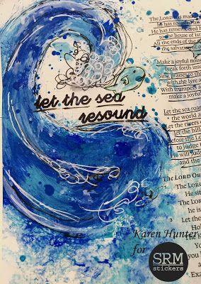 KarenScraps: Let the Sea Resound Bible Journaling Page