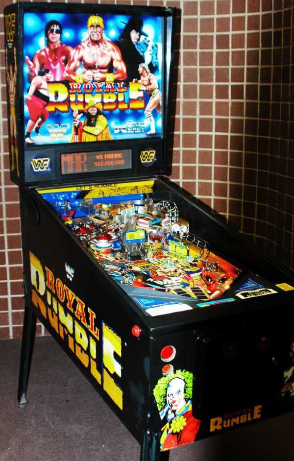 The original WWE Pinball machine 'Royal Rumble' by Data East 1994