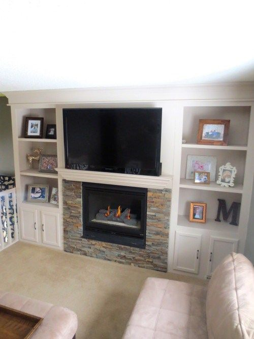 built in shelving around a fireplace remodel construction2style on rh pinterest com cabinets around a fireplace how to build bookshelves around a fireplace
