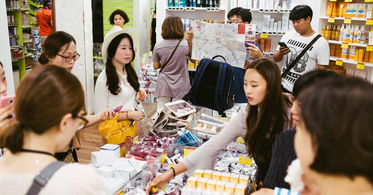 Pharmacie Monge's cosmetics and a nod from a blogger drew South Korean tourists…