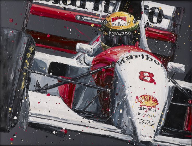 Paul Oz is the buzz word in Formula One art; widely acclaimed for his explosive and energetic artworks and well-respected for his genuine passion for the sport.  We are proud to present to you this very limited edition, hand embellished Paul Oz print, which portrays Ayrton Senna racing in his iconic red & white McLaren F1 car.  Available as part of a strictly limited edition of 100 hand embellished box canvas prints. Paul personally embellishes each museum-quality print with a pa...