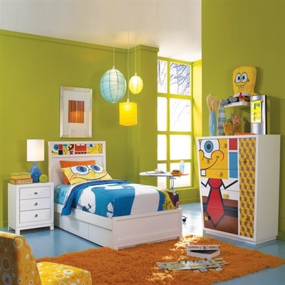 spongebob bedroom   wall color  like the colors and the simplicity. 26 best SpongeBob room images on Pinterest   Bedroom ideas  Kid