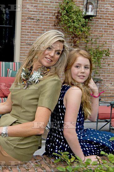 Dutch Royal family photocall, Eikenhorst in Wassenaar, The Netherlands - 08 Jul 2016 Queen Maxima, Princess Alexia 8 Jul 2016