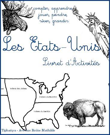 Livret d'activités pour les maternelles sur les Etats-Unis, art, histoire, géographie, maths, etc.