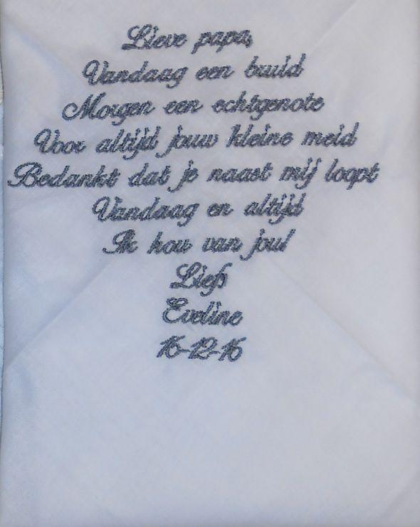 16-12-2016 zakdoek heren http://www.bruiloftzakdoekje.nl