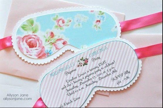 Uitnodiging slaapfeest http://allysonjane.blogspot.nl/