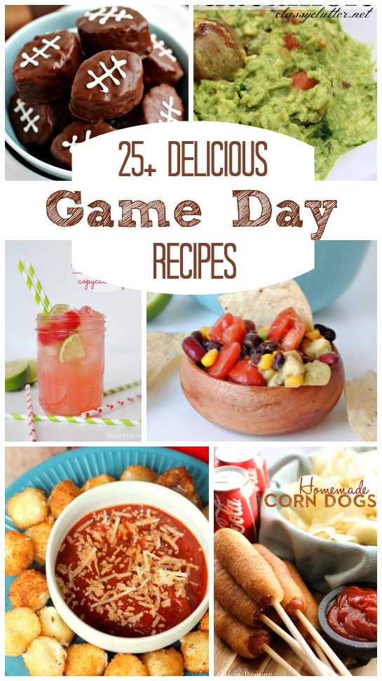 25+ Man Approved Game Day Recipes | www.classyclutter.net