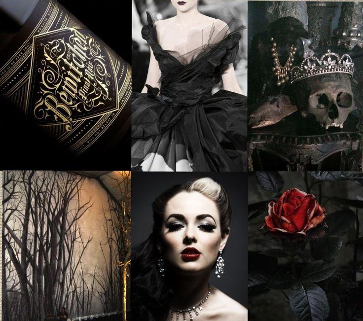 Red And Black Gothic Wedding Reception Decor Idea