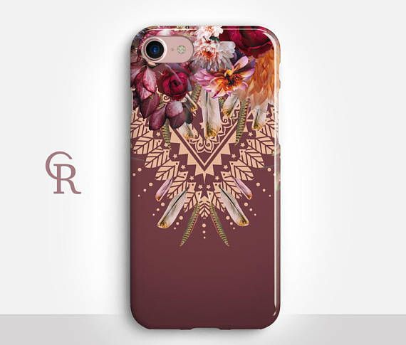 Tribal Floral Phone Case For iPhone 7 iPhone 8 Plus - iPhone X - iPhone 7 Plus - iPhone 8 - iPhone 6S - iPhone SE - Samsung S8 - iPhone 5