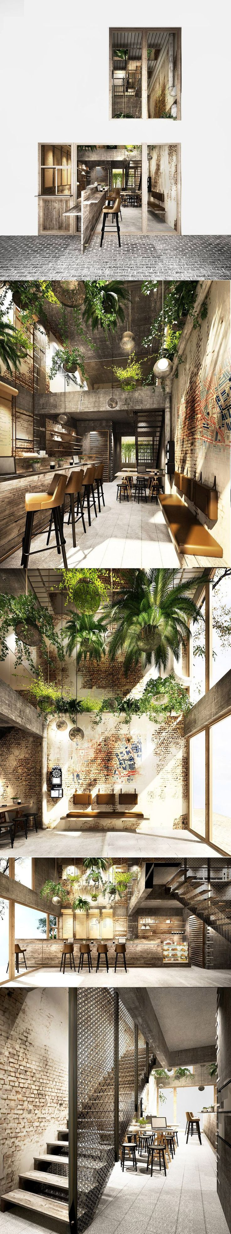 Végétaux aux plafonds + montures et ampoules vintage