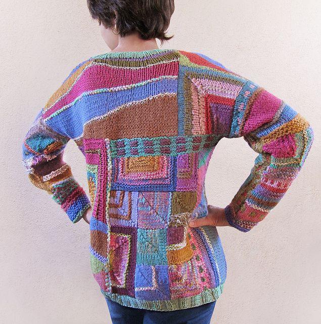 Myra Wood Template based patchwork knitting