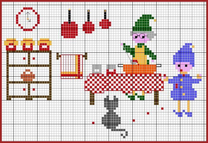 Les 312 meilleures images du tableau broderie point de - Cuisine et croix roussien ...