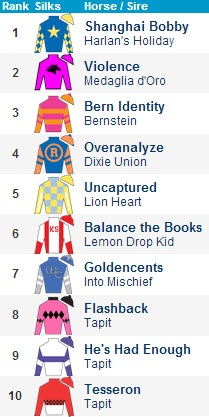 2013 Kentucky Derby Top 10 Contenders 1/2/2013 - Vote For Your Top Contenders at HRN!