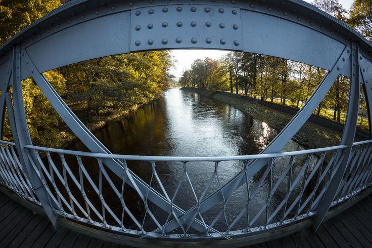 https://flic.kr/p/zyZLBa | Sušice Bridge, Otava river | Most přes Otavu (fisheye)