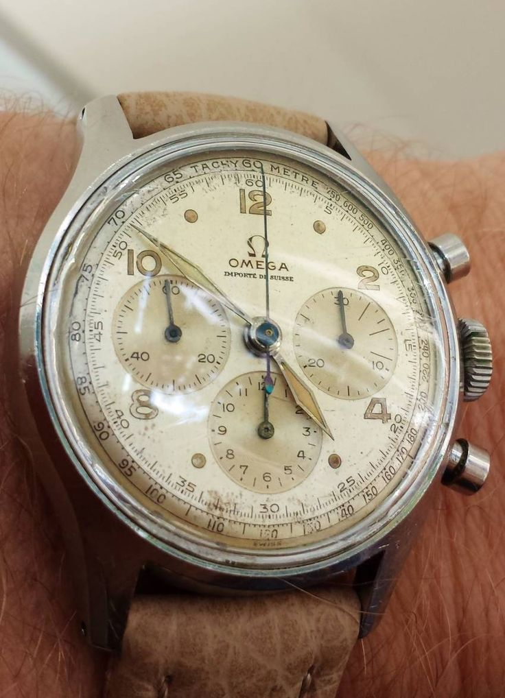 Awesome Vintage OMEGA Calibre 27CHRO Chronograph In Stainless Steel