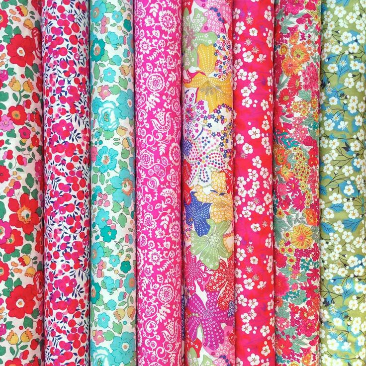 Lovely selection of Liberty fabric fat quarters. Betsy, Mitsi, Mauvey