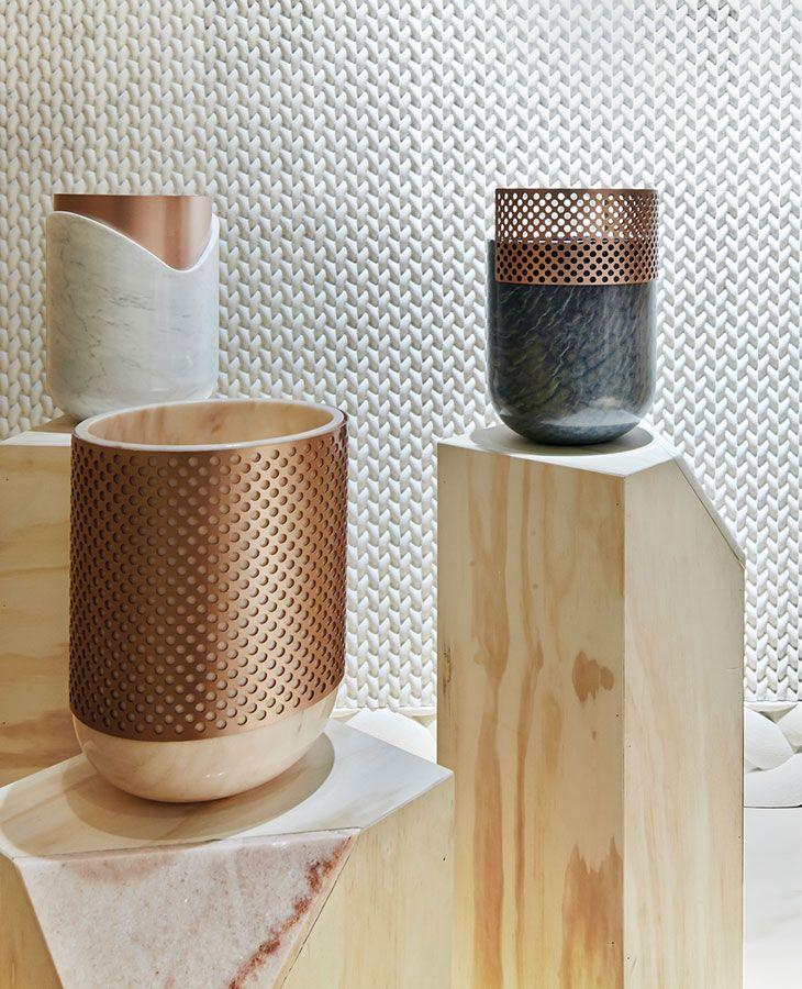 Schalen und Vasen mit Bronze-Akzenten #bronze #vasen #dekoration