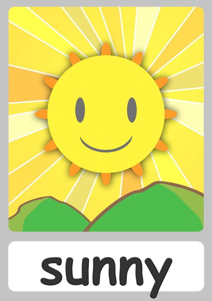 FREE weather Flashcards For Kindergarten! Teach weather easily with these cute flashcards for toddlers! Now with a FREE weather chart & weather animation!