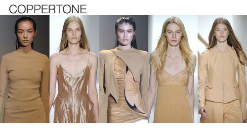 Top color. Womens Spring 2012 trend report, coppertone