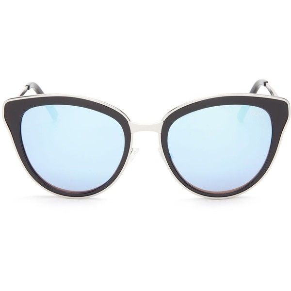 Quay Every Little Thing Mirrored Cat Eye Sunglasses, 54mm (£48) ❤ liked on Polyvore featuring accessories, eyewear, sunglasses, quay eyewear, quay sunglasses, cat-eye glasses, mirrored glasses and cat eye sunglasses