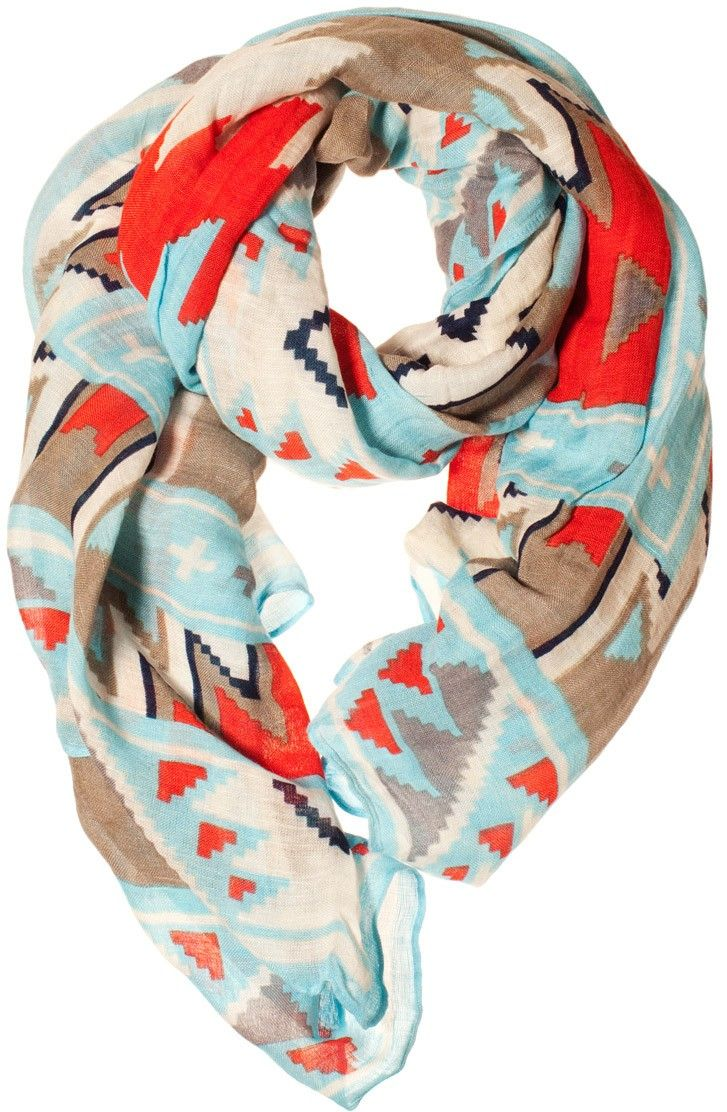 Native trend scarf.: Fall Scarves, Aztec Scarf, Style, Pattern, Scarfs