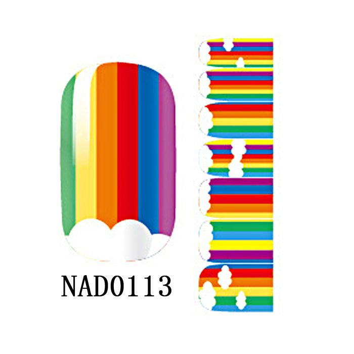 New NAIL WRAPS STICKERS Rainbow Full Self Adhesive Polish Foils Art Decals  #Dolphin