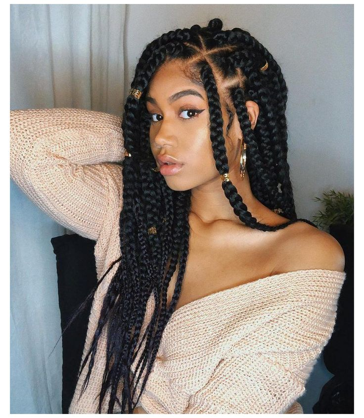 Protective Hairstyles For Natural Hair, Natural Hair Braids, Braids For Black Hair, Black Hair Extensions Braids, Black Hair Twists, Natural African Hair, White Girl With Braids, Little Girl Box Braids, Girls With Black Hair