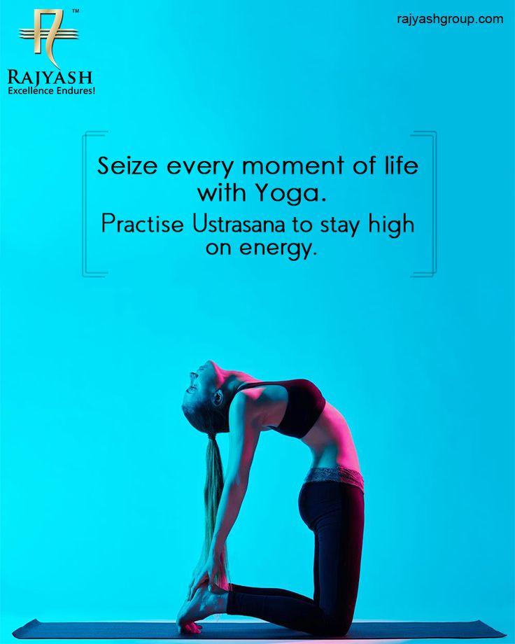 #Ustrasana strengthens your back; unlocks the shoulders, chest, and quadriceps and uplift your mood and energy #YogaDay #RajYashGroup #Luxury #Lifestyle #RajYash #SouthVasna #Ahmedabad