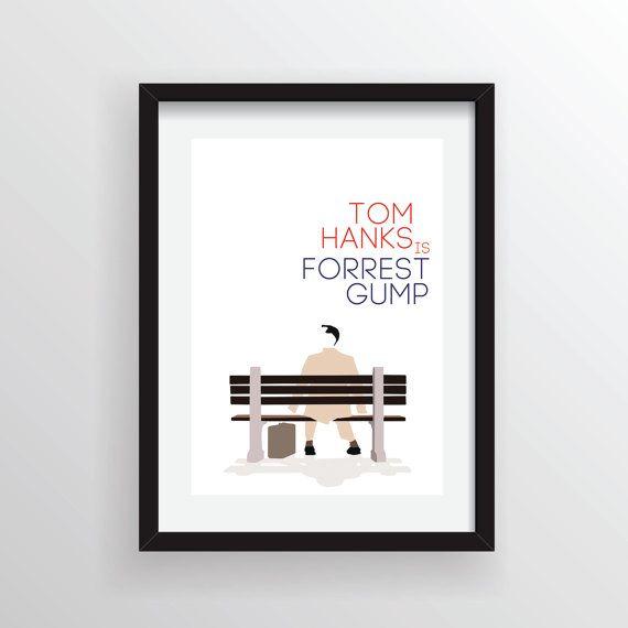 Forrest Gump  A4 impression d'Art numérique.  par Posteritty, £8.00