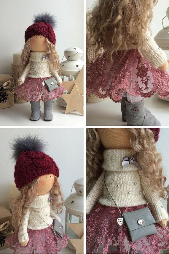 Amor muñeca de la muñeca Tilda arte muñeca por AnnKirillartPlace