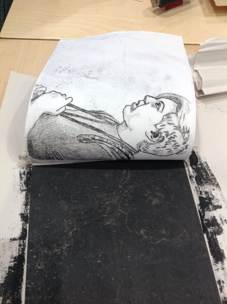 Mono printing - detailed drawing, thinking about composition