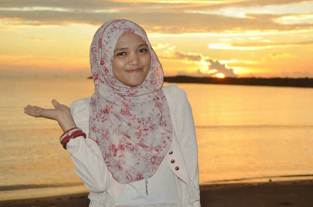 Hijab with sunset
