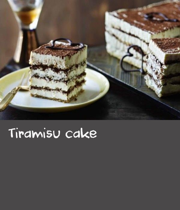 Tiramisu cake |      Like Mary Berry herself, this version of tiramisu is elegant, generous and very sweet. Equipment and preparation: You will need a 38x25cm/15x10in Swiss roll tin, a 18cm/7in square tin and a cook's thermometer.