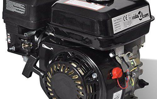 vidaXL Moteur essence 6,5 HP 4,8 kW Noir: Taille: 36 x 25,3 x 32 cm (L x P x H) Cylindrée: 196 cc Puissance maximale: 6,5 HP / 4,8 kW Cet…