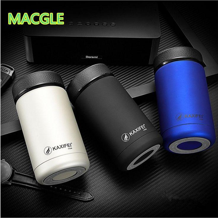 400ml Stainless Steel Tea Cup Coffee Mugs Thermos Water Bottle Vacuum Flask Travel Mug 13oz Insulated Thermos Coffee Mug Tea cup