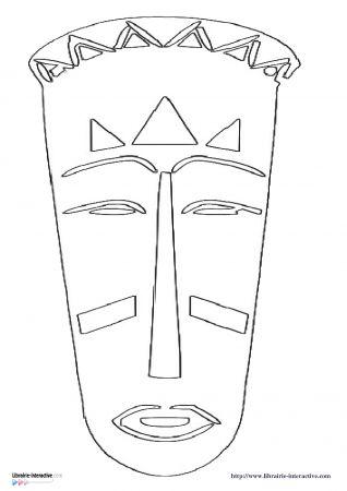 Les 25 meilleures id es concernant masques africains sur - Masque africain a imprimer ...