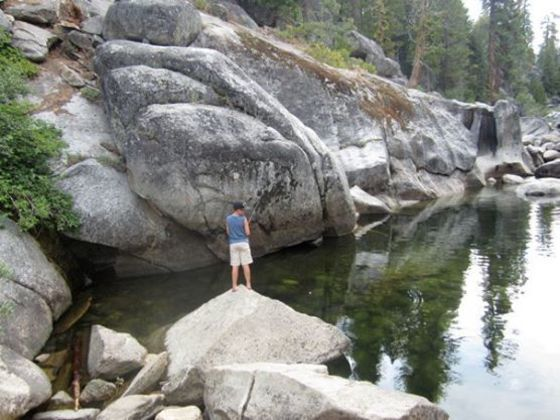 Dinkey Creek Is Spread Out Along The Banks Of Its Namesake In A Thick Forest Ponderosa Pines And Cedars
