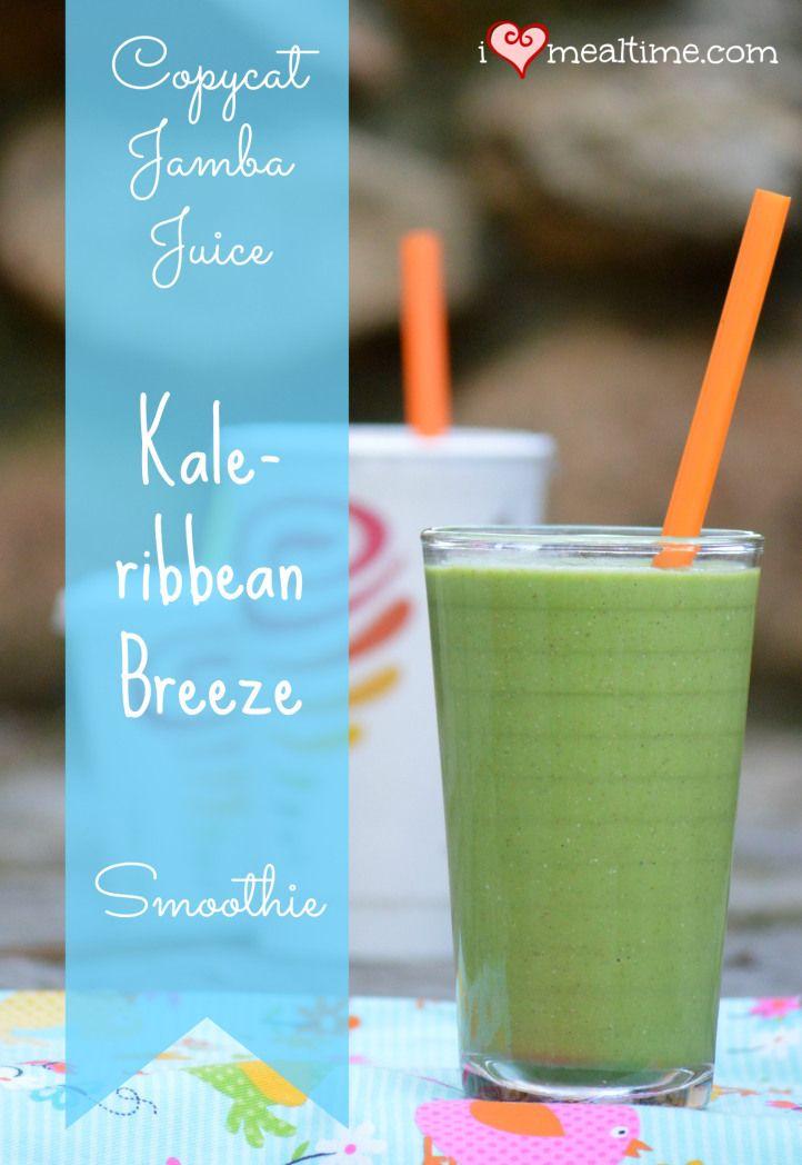 Copycat Jamba Juice Kale-ribbean Breeze Smoothie