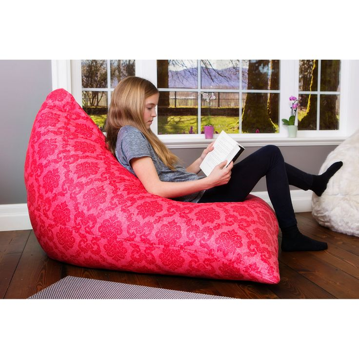 Modern Bean Bag The Teardrop Medium Bean Bag Chair - MBB900P - PINK