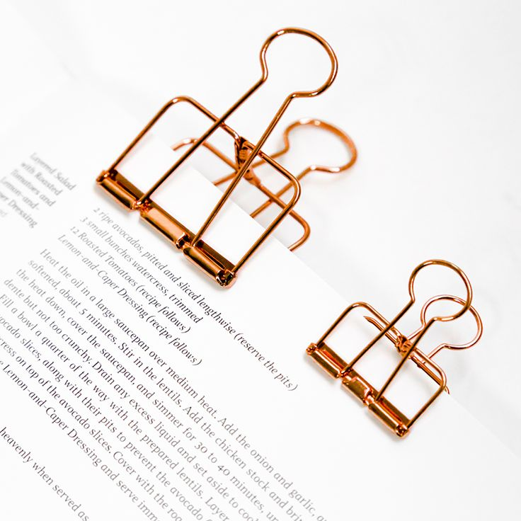 1 Pcs Cute Kawaii Photo Decorative Metal Quality Binder Paper Clips Desk Office Accessories School Supplies Gold Black Rose
