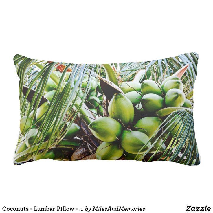 Noix de coco - coussin lombaire - île des Caraïbes