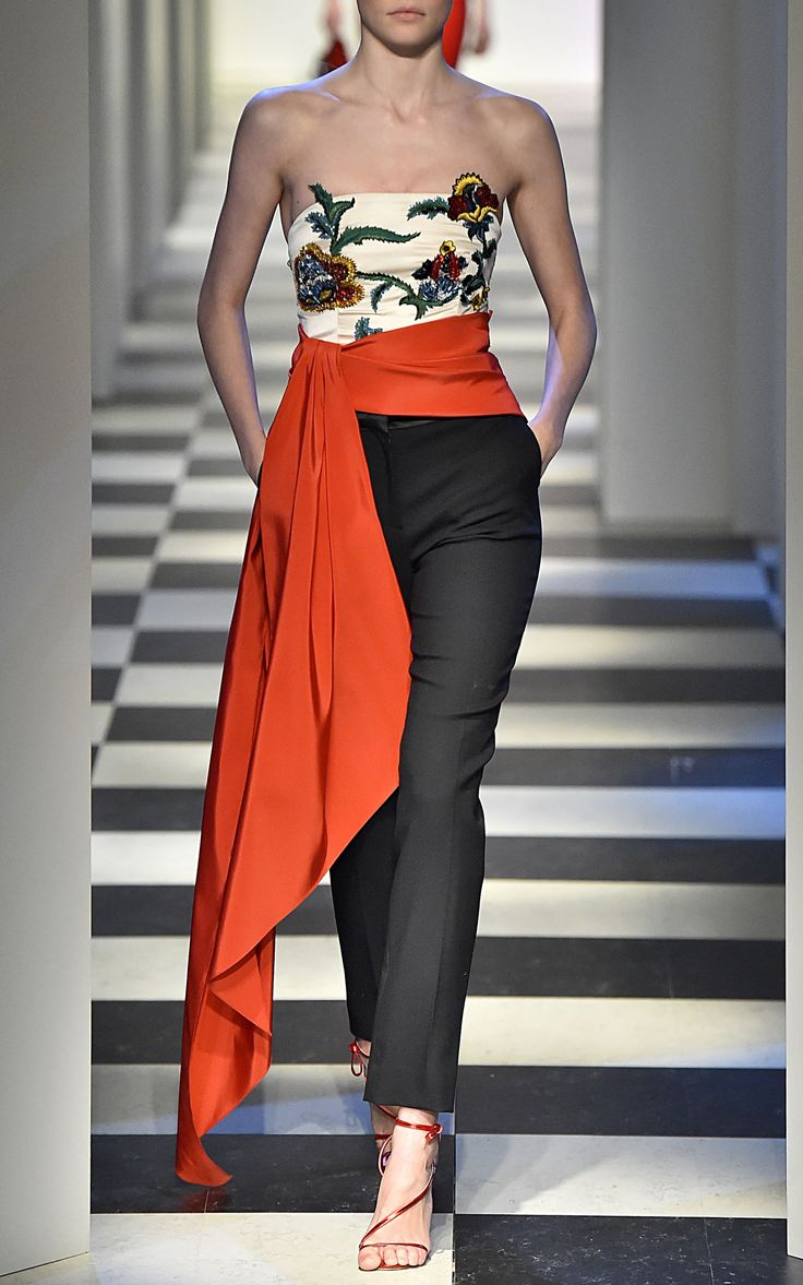 Strapless Embellished Top by OSCAR DE LA RENTA for Preorder on Moda Operandi