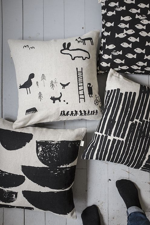 Fine Little Day - Convert kids drawings or hand-drawn images to screenprinted cushions using photo-stencils