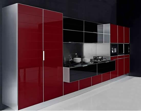Tủ bếp gỗ công nghiệp Laminate màu tìm hiện đại http://noithatducduong.com/products/tu-bep-hien-dai/