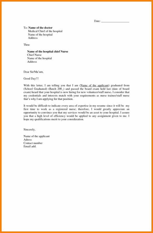 How to write an application letter for nursing school