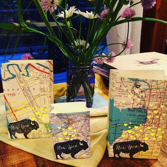 5 Pack Buffalo New York Luminaries Buffalo NY Map by Oldendesigns