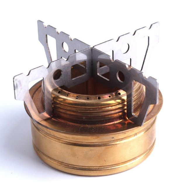 Portable Durable Stainless Steel Alcohol Stove Backpacking Camping Hiking